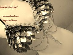 Scalemail custom Ruffled Dragon metal bra/bikini top for LARP RP bellydance fantasy geekery dragonscales chainmail chain maille