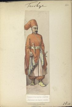 Executor of High Works. Executeur des hautes oeuvres. My poor french had me thinking he is the boss of the best eggs. LOL. The Vinkhuijzen collection of military uniforms / Turkey, 1818. See McLean's Turkish Army of 1810-1817.