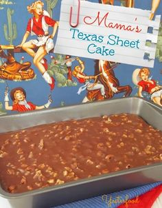Yesterfood : Texas Sheet Cake Good frosting recipe