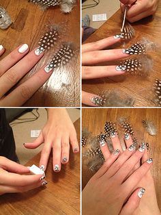 More click [.] Hottest Feather Nail Art Designs Ideas Manicure Has Just Taken Nail Art To Whole New Level With Its Ecemella Easy Nail Art Design Ideas Simple Nail Art Designs, Best Nail Art Designs, Easy Nail Art, Nail Art Pen, Nail Polish Art, Hot Nails, Hair And Nails, Feather Nail Art, Nagel Hacks