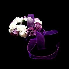 Lovely+White+With+Purple+Paper+Flower+Wedding+Flower+Girl/Bridal+Wrist+Flower+-+USD+$+2.81