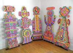 Colorful intricate patterns made from paper by artist MICHAEL VELLIQUETTE