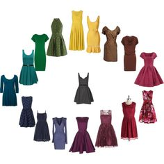 """Deep Summer - dresses"" by adriana-cizikova on Polyvore"