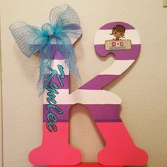 Doc McStuffins Big Letter Designs By Monee' Doc Mcstuffins Birthday Party, 3rd Birthday Parties, 4th Birthday, Birthday Party Decorations, Party Themes, Birthday Ideas, Party Ideas, Letter Designs, Nursery Room