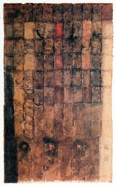 mixed media/paper making, painting, collage 林孝彦 HAYASHI Takahiko 1992 photo presented by Galerie Tokyo Humanité Painting Collage, Collage Art, Collages, Tea Bag Art, Grunge Art, Book Sculpture, Art Base, Paper Artist, Art For Art Sake