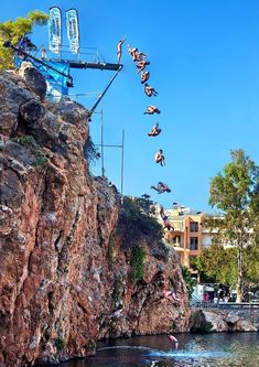 'Agios Nikolaos Cliff Diving' by Hercules Milas Cliff Diving, Crete Island, Corfu, Extreme Sports, Greek Islands, Beautiful Islands, Hercules, Homeland, Laos