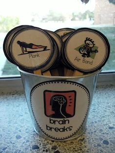 SLPs & Teachers check it out: Brain Breaks for the Classroom! {I like this idea for the office! I was just reading an article yesterday about how you should take several breaks throughout your workday to give your brain a break!} - Re-pinned by @PediaStaff – Please Visit ht.ly/63sNt for all our pediatric therapy pins