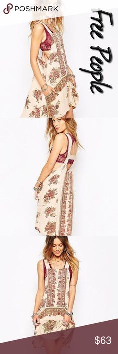 Free People Paradise Songs Apron Tunic NWT M Size M, New with tags, love this so much I have one myself, it has an Apron front and pockets with a beautiful lengthy back, very versatile, can be worn with a layering top and skinnies or leggings Free People Dresses Mini