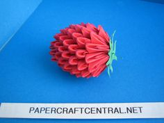 origami | 3D Origami Strawberry Fruit Modular Paper Folding | Origami and ...