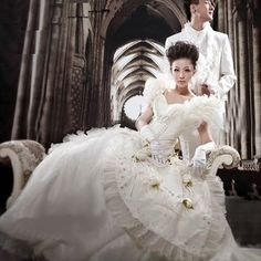 Celebrity Expensive Couture Royal Couple Wedding Gowns Dress Clothing Suits SKU-307041