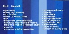 Symbolic meaning and description of different shades of the color blue