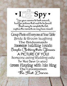 Trendy Wedding Reception Activities For Kids I Spy 41 Ideas Wedding With Kids, Trendy Wedding, Perfect Wedding, Diy Wedding, Wedding Photos, Dream Wedding, Wedding Day, Unique Weddings, Wedding Table Games