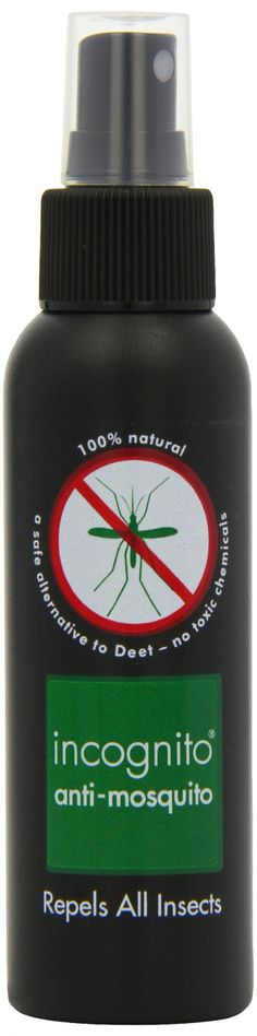 Incognito Natural Anti-Mozzie Insect Camouflage Spray DEET free Insect Repellent (100Ml): Amazon.co.uk: Health & Personal Care
