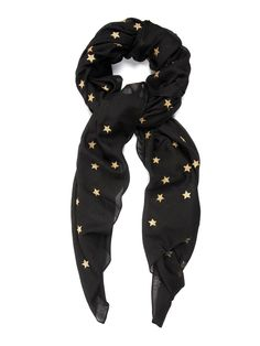 Stars wool and silk-blend scarf | Saint Laurent