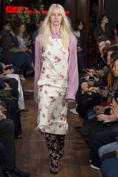 Vetements Spring 2016 - Floral: Similarly to McQueen, Vetements uses minimalist and decorative florals in the Spring trends.