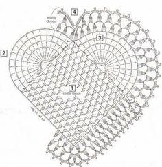Corações em Croche   americanos em croche     O americano em formato de croche ficou lindo, está irradiante no tom amarelo   mas poderá mu...