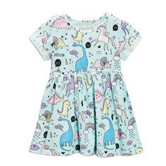 Kids Dinosaur Toddler Dress. Perfect for Kindergarten!