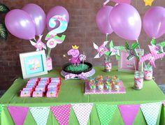 Fiestas Peppa Pig, Cumple Peppa Pig, 3rd Birthday Parties, Birthday Party Decorations, 2nd Birthday, Pig Party, Baby Party, Peppa Pig Birthday Outfit, Aniversario Peppa Pig