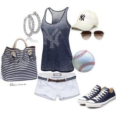 A fashion look from March 2012 featuring yankees tank top 45dfec2ca46