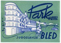 Park Hotel Bled Jugoslavia OLD ART Deco Luggage Label | eBay