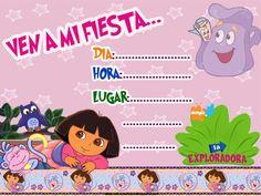 Invitaciones De Cumpleaños De Dora La Exploradora Para Dedicar 10  en HD Gratis