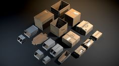 Cardboard Boxes - Game ready props asset , available formats OBJ, FBX, TGA, ready for animation and other projects Physically Based Rendering, Game Props, Low Poly 3d Models, 3d Assets, Wood Detail, Snacks For Work, Albedo, Environment Concept Art, 3d Design