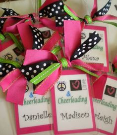 Peace, Love & Cheerleading Bag Tag Cusomized for you or cheer, dance team… Dance Team Gifts, Cheer Gifts, Cheer Dance, Cheer Bags, Cheer Coaches, Cheer Mom, Cheer Stuff, Cheer Spirit, Spirit Gifts