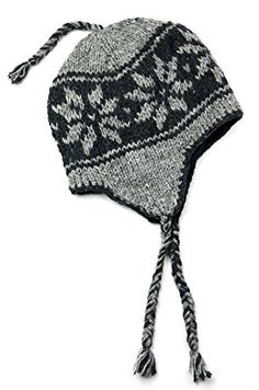 TCG Men s Hand Knit Wool Snowflake Sherpa Hat Review 86c854d5548a