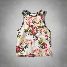 A&F tipped floral tank top