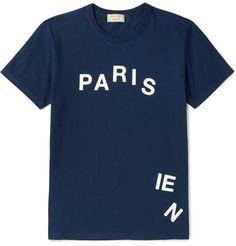 Maison Kitsuné - Printed Cotton-Jersey T-Shirt