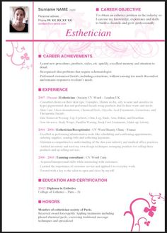 Esthetician Resume Samples | Resume CV Cover Letter