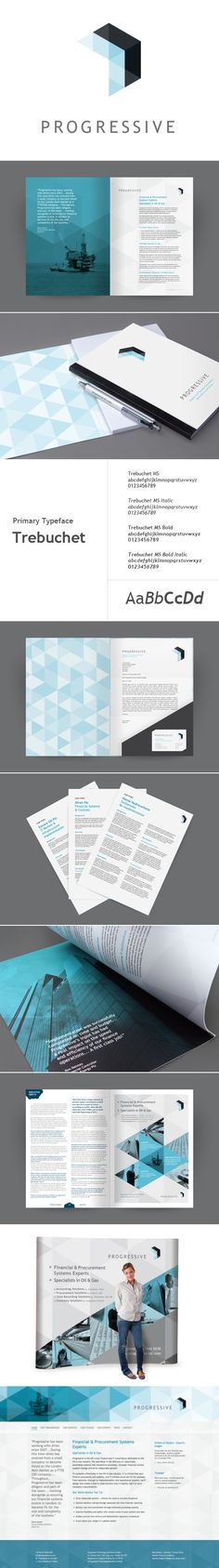Progressive Identity Design Design Brochure, Brochure Layout, Graphic Design Branding, Stationery Design, Typography Design, Packaging Design, Logo Design, Corporate Design, Brand Identity Design