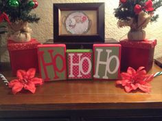 Decorative Block Letters / Holiday Home Decor / by NicsLoveLetters, $15.00