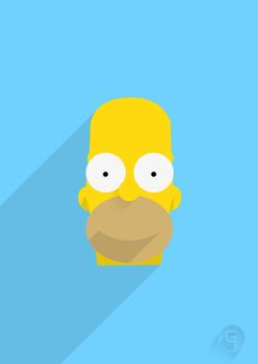 Simpsons versão Flat Design