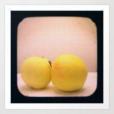 Apples with Texture TTV Art Print by Judi FitzPatrick