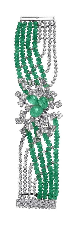 CARTIER EMERALDS AND DIAMONDS BRACELET #slimmingbodyshapers To create the perfect overall style with wonderful supporting plus size lingerie come see slimmingbodyshapers.com