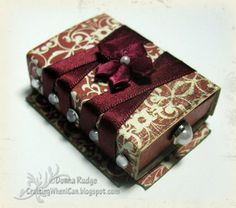 Crafting When I Can: Altered MatchBox
