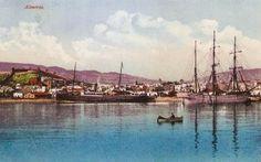 Postales Antiguas de Andalucía: Barcos en el Puerto de Almería