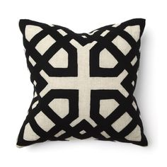 The Khwai Appliqué is a trendy decorative pillow, perfect for modern interior design. Add exotic flair to your home furnishings. Thick lines and color contrast.