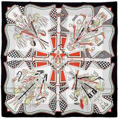 "Hermes Scarf ""Bouquets Sellier"" by Pierre Marie Silk – Exquisite Artichoke Pierre Marie, Deco Paint, Silk Scarves, Hermes Scarves, Silk Bow Ties, Designer Scarves, Scarf Design, Red Silk, Scarf Styles"