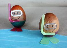 Fotopostup na veľkonočné vajíčko - potápač - foto postup