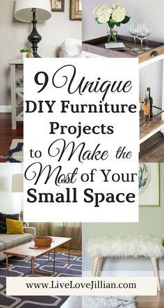 Is your bulky furniture monopolizing your space? Are you like me and have rearranged your furniture in every way imaginable just wondering how to make the most out of your small space? Add storage and functionality with 9 of my favorite DIY furniture projects to make the most of your small space.