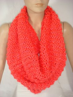 NEW  Hand Knitted Hooded Cowl/Scarf/Neck Warmer Neon by Arzus, $35.00
