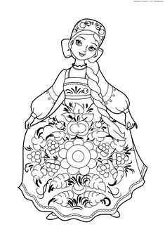 russian folk art coloring pages - photo#40