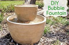 Hometalk :: Ready to use outdoor fountains can be so pricey, so we decided to make…
