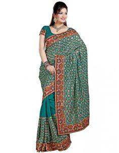 Resplendent Party Wear Saree http://www.bharatplaza.com/womens-wear/sarees/traditional-saree.html