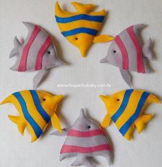 Peixinhos para decorar um lindo quartinho no tema fundo do mar!😃 #floquinhobaby #decoracaoinfantil #decoracaobebe #fundodomar
