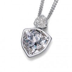 Oliver Weber Women white large trilli pendant necklace with Swarovski Crystals Summer Collection, Swarovski Crystals, Take That, Sparkle, Pendant Necklace, Diamond, Jewelry, Women, Jewlery