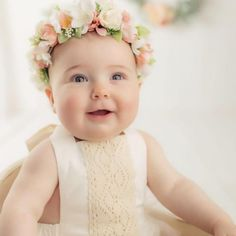 Another Monday, another sweet photo! Thank you for sharing these darling photos! She couldn't be any sweeter! Photo by… First Birthday Outfits, Flower Crowns, First Birthdays, Sweet, Flowers, Photos, Instagram, Candy, First Anniversary