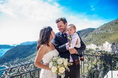 Gemma and Greg's romantic summer elopement with views at Eze, French Riviera.